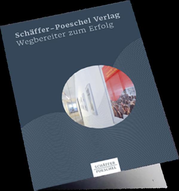 Abbildung der Schäffer-Poeschel Image-Broschüre, die den Verlag und sein Leistungsspektrum vorstellt